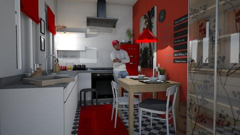 Student Kitchen RED - Kitchen - by Eleonor Debus