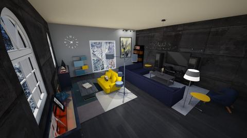 Mid Mod - Living room - by The Geek Owl