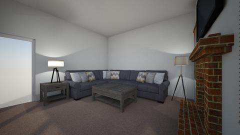 Mike - Living room - by rickglassinteriors