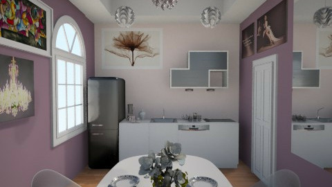 The purple kitchen  - Glamour - Kitchen - by Anliz