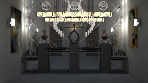 illuminated stones bathroom - by ayudewi382