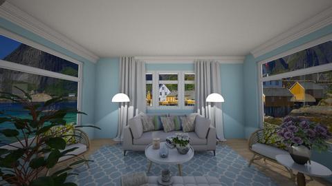 sheek blue - Living room - by chloco