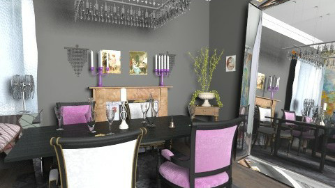 Crystal - Glamour - Dining room - by milyca8
