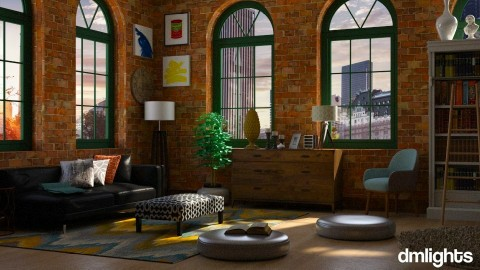 Big Apple - Retro - Living room - by Musicman