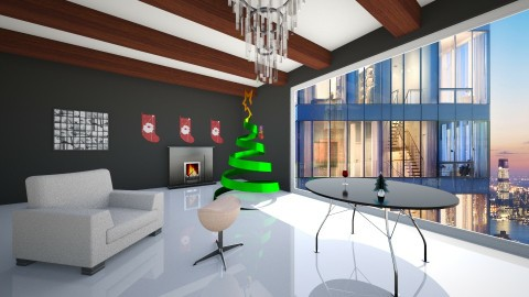 modern and stylish xmas - Living room - by Alex Jacobs_152