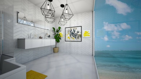 10 min yellow bathroom - by SKS419