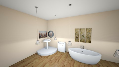 Wooden and White _ Design - Modern - Bathroom - by RoomstylerJD