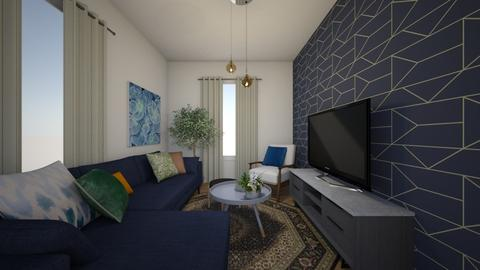 Dark Blue - Minimal - Living room - by Ster