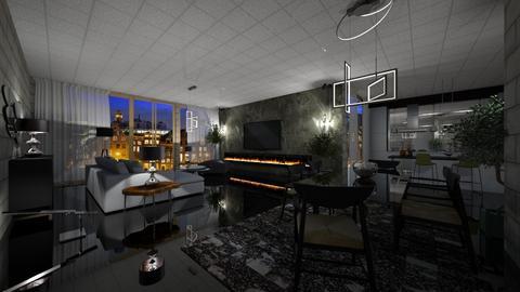 Stone - Rustic - Living room - by nanabpf