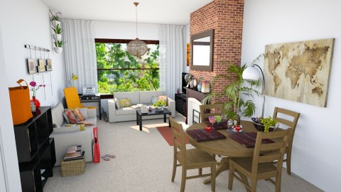 Small Summer Living Room - Retro - Living room - by dominaqq