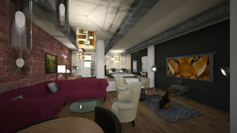 loft - Living room - by Dream Interior