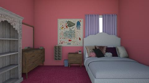 Pink and Lilac - Feminine - Bedroom - by strongsteadfast