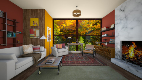 Fall colors - Living room - by ec2190
