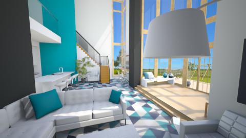 Open Plan House - Living room - by emmaaab