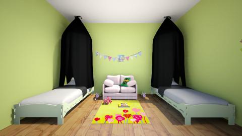 Girls Vintage - Vintage - Kids room - by Gale Flow