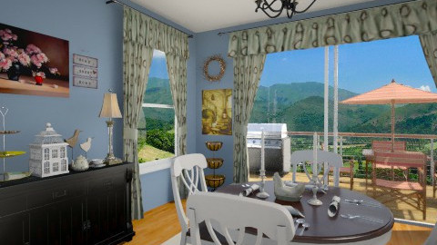Country Dining Room 02 - Country - Dining room - by LadyVegas08
