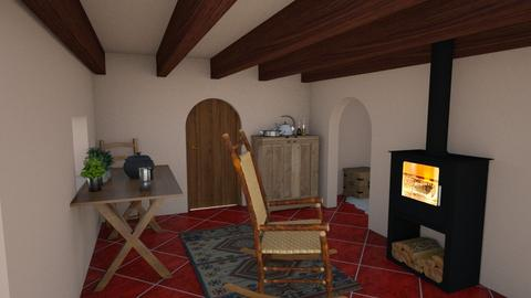 Desert Cottage - Rustic - Living room - by zizzy