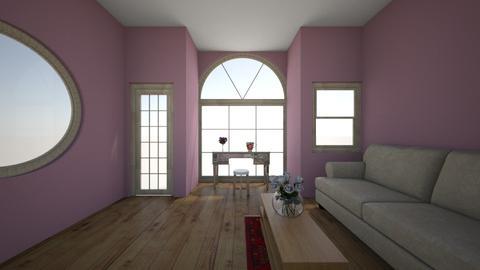 pink living room - Minimal - Living room - by tesstuneski