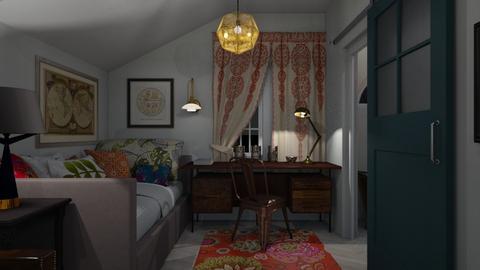 Eclectic Attic Bedroom - Bedroom - by lauren_murphy
