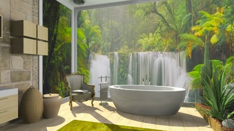 forest bath - Modern - Bathroom - by Cejovic Andrijana