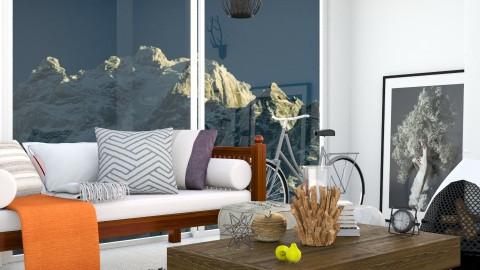 white mountain - Living room - by Inokentijroom
