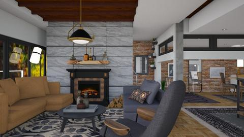 Mixed materials - Modern - Living room - by Tree Nut