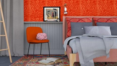 Grey and Red - Modern - Bedroom - by HenkRetro1960