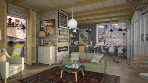 Living Combinado - Retro - Living room - by pachecosilv