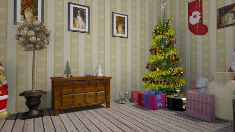 Living room with Christma - Living room - by Stellukas
