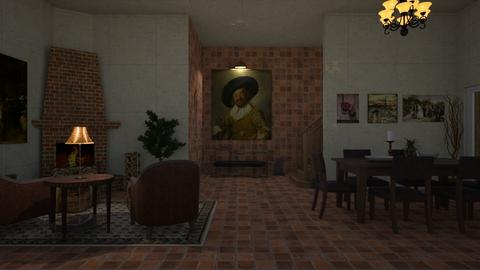 ranch mansion - Country - Living room - by jammuek