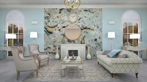 Marbled Blue - Glamour - Living room - by annator