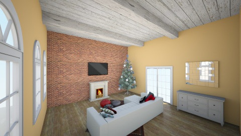 Christmas Living Room - Living room - by allisorax