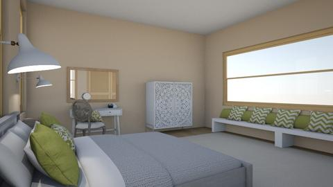 Green Accent Bedroom - Modern - Bedroom - by robharbs