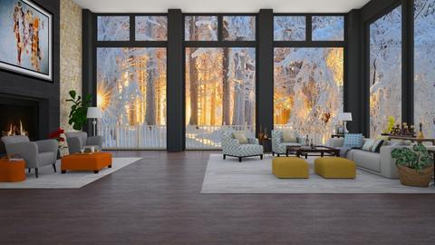 Winter Cabin - by jade61356