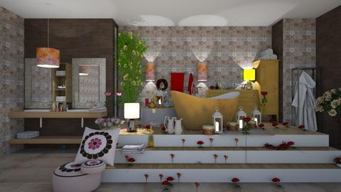 rose petals - Bathroom - by natasa mihajlovic