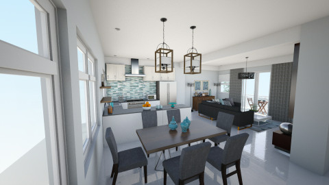 2nd flr kitchen dining v3 - Kitchen - by chloedaniella