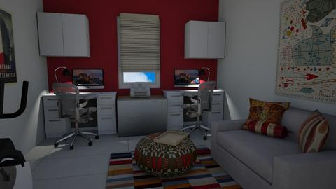 Den - Living room - by Dwellings LLC