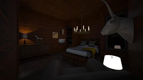 Brown - Rustic - Bedroom - by BigG122