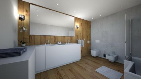 scandinavian bathroom - by annsal
