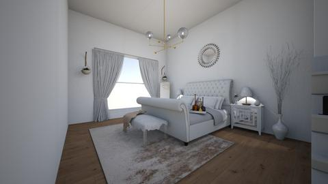 white bedroom - by kittycait08