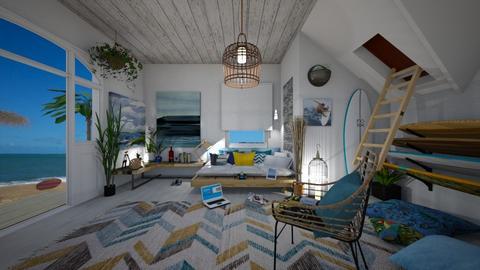 Surf culture bedroom - by Themis Aline Calcavecchia