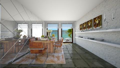 Casa com Jardim Interno - Glamour - Living room - by Mariesse Paim