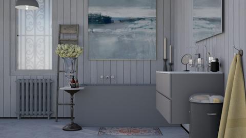 Grey Bath - Minimal - Bathroom - by HenkRetro1960