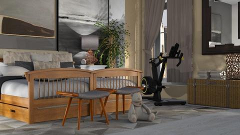 Gym_Bedroom - Bedroom - by ZuzanaDesign