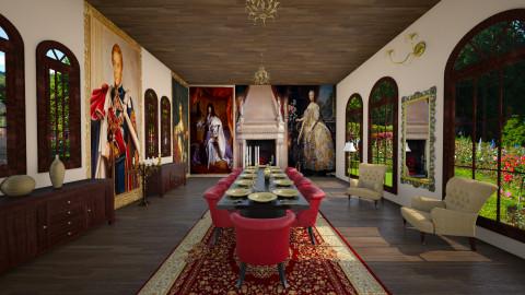 medvl room palace - Rustic - Dining room - by Senia N