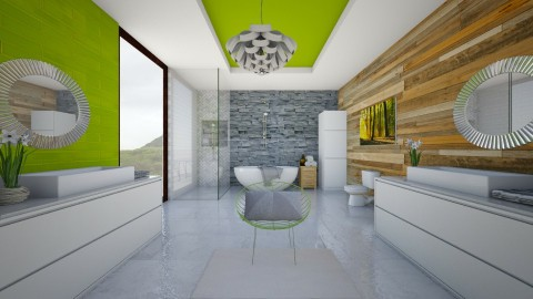 Modern Bathroom - Modern - Bathroom - by bgref
