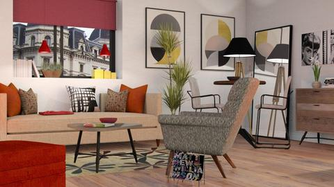 Mid Century Livingroom - Modern - Living room - by Sally Simpson