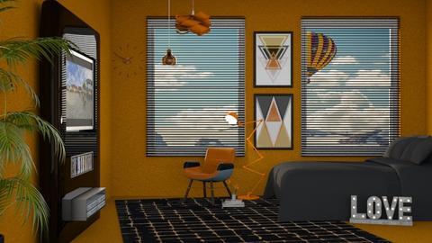 Orange Carpet - Bedroom - by its_eima