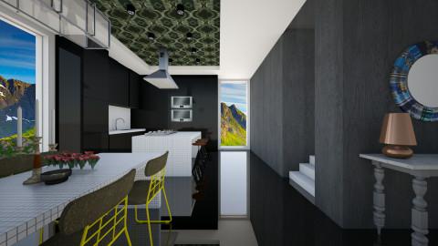 Open Dark Kitchen - Modern - Kitchen - by 3rdfloor