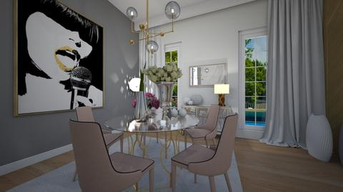 Pink dining room - by cosettevis